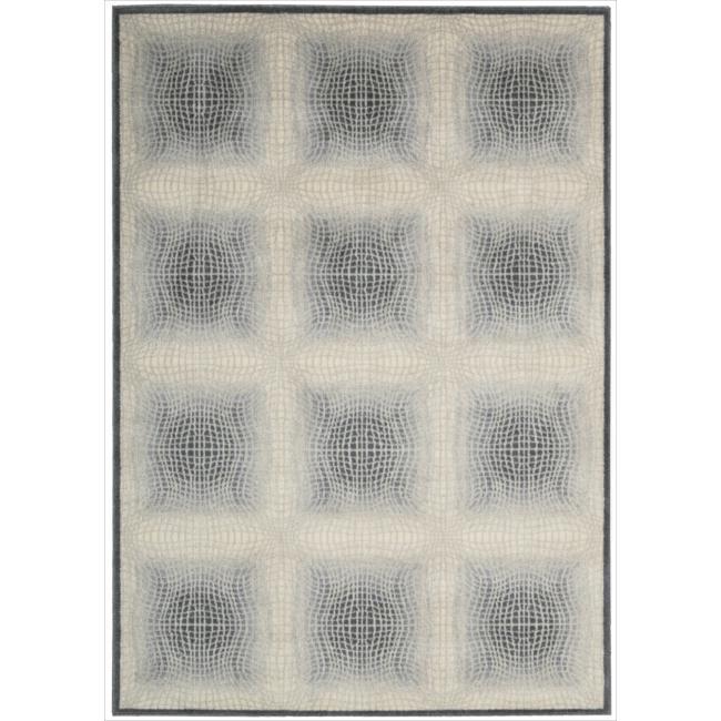 Nourison Utopia Ivory Abstract Rug (3'6 x 5'6)