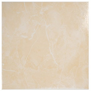 SomerTile 12x12-in Mesa Beige Ceramic Floor and Wall Tile (Case of 21)