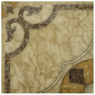 SomerTile 17.625x17.625-in Cairo Ceramic Floor and Wall Tiles (Case of 8)