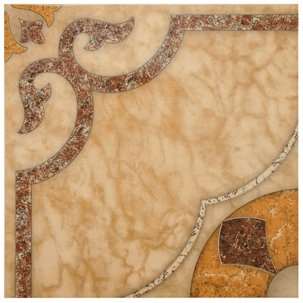SomerTile 17.625x17.625-inch Cairo Ceramic Floor and Wall Tile (Case of 8)