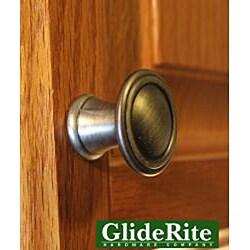 GlideRite 1.25-inch Satin Pewter Round Deco Cabinet Knobs (Case of 25)