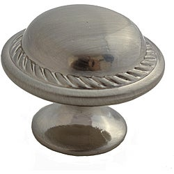 GlideRite 1.125-inch Satin Nickel Round Rope Cabinet Knobs (Case of 25)