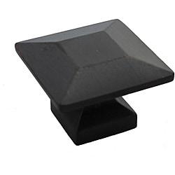 GlideRite 1.375-inch Oil Rubbed Bronze Square Cabinet Knobs (Case of 25)