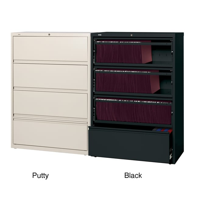 Hirsh 36 inch 4 drawer Lateral with Roll-out Shelves