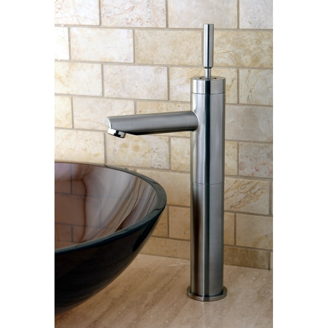 Vessel Sink Satin Nickel Bathroom Faucet