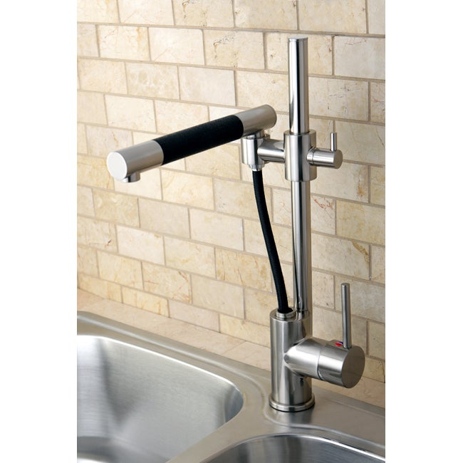 Swivel 19-inch Satin Nickel Kitchen Faucet