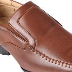 Boston Traveler Men's Stitching Detail Square Toe Slip-on Loafers