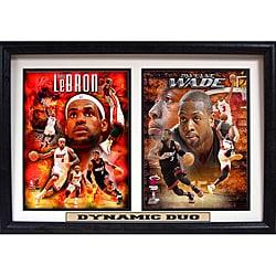 Miami Heat 'Dynamic Duo' Photo Stat Frame 2