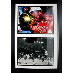 Black Chicago Bulls Michael Jordan Novelty Double Photo Frame
