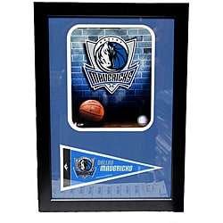 Dallas Mavericks Logo Pennant Frame