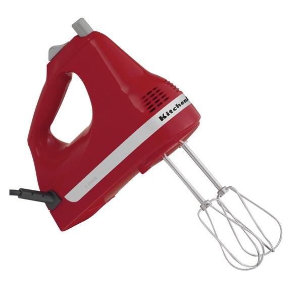 KitchenAid RRKHM5ER Empire Red 5-speed Ultra Power Hand Mixer (Refurbished)
