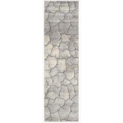 Nourison Utopia Gray Abstract Runner Rug (2'3 x 8')