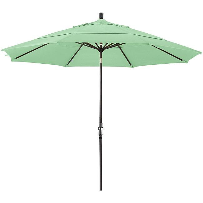11-foot Fiberglass Pacifica Spa Green Crank/Tilt Umbrella