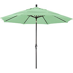 11-foot Fiberglass Pacifica Spa Green Crank/Tilt Umbrella