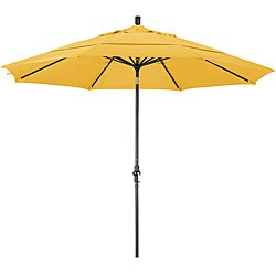 11-foot Fiberglass Pacifica Yellow Crank and Tilt Umbrella