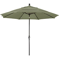 11-foot Fiberglass Pacifica Taupe Crank/Tilt Umbrella