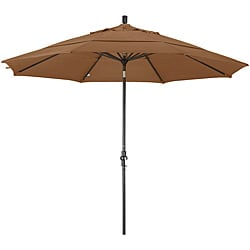 11-foot Fiberglass Pacifica Straw Crank/Tilt Umbrella