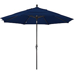 11-foot Fiberglass Pacifica Sapphire Blue Crank/Tilt Umbrella
