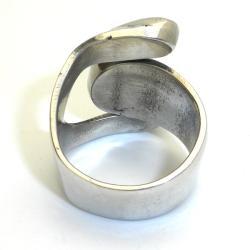 Tiger Eye Alpaca Silver Ring (Mexico)