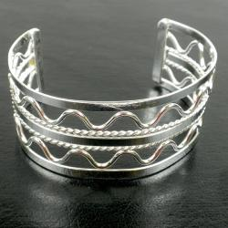 'Waves' Silver Overlay Cuff (Mexico)