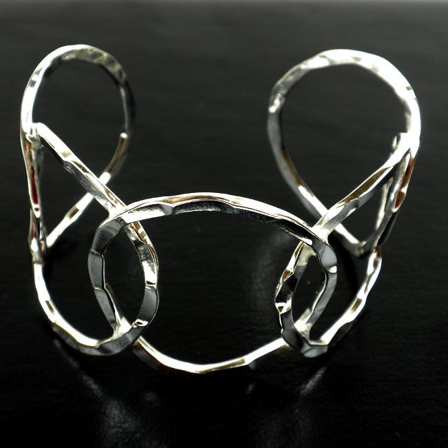 'Circles' Silver Overlay Cuff (Mexico)