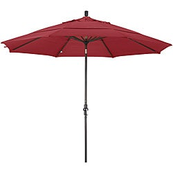 11-foot Fiberglass Pacifica Cranberry Red Crank/Tilt Umbrella