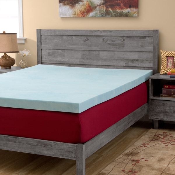Slumber Solutions Gel 4-inch Memory Foam Mattress Topper