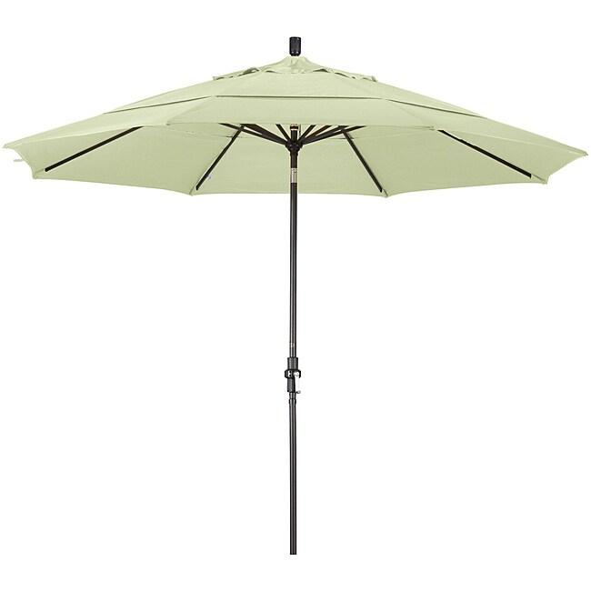 11-foot Fiberglass Pacifica Natural White Crank/Tilt Umbrella