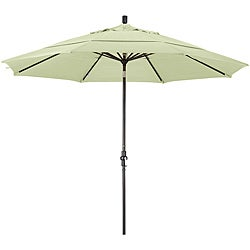 11-foot Fiberglass Pacifica Natural White Crank/Tilt Umbrella