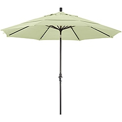 Fiberglass Natural White Olefin Crank/Tilt Umbrella (11-foot )