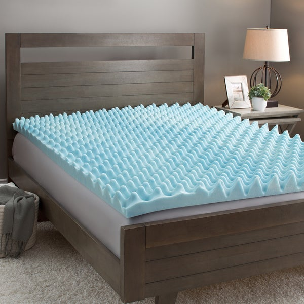 Slumber Solutions Gel Big Bump 2-inch Memory Foam Mattress Topper