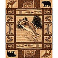 Lodge Design 363 Fishing Area Rug (5' x 7')