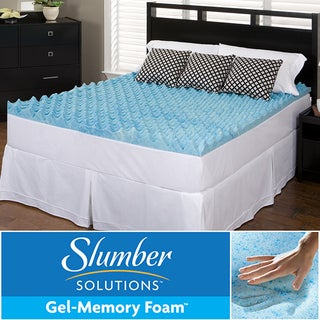 Slumber Solutions Gel Big Bump 4-inch Memory Foam Mattress Topper