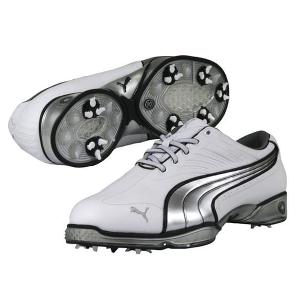 Puma Men's Cell Fusion White/ Silver/ Black Golf Shoes
