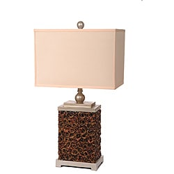Resin 3-way Table Lamp with Creme Shade