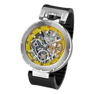 Stuhrling Original Men's Emperor VT Automatic Black Rubber Strap Watch