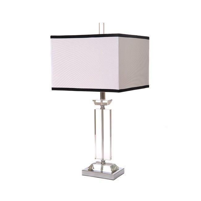 Lead Crystal/ Metal 3-way Table Lamp