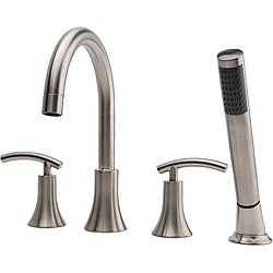 Fontaine Vincennes Brushed Nickel Roman Tub Faucet with Handheld Shower