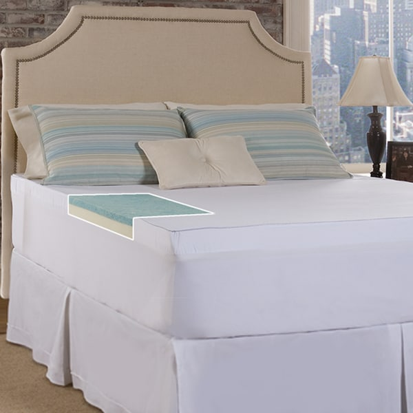 Slumber Solutions Gel Select 2-inch Memory Foam Mattress Topper with Cover