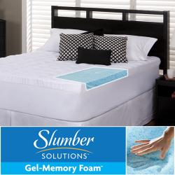Slumber Solutions Gel 5.5-inch Memory Foam and Fiber Mattress Topper