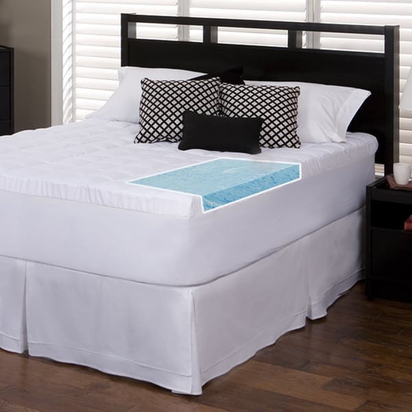Slumber Solutions Gel 2-inch Memory Foam and 1.5-inch Fiber Mattress Topper