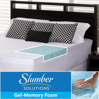 Slumber Solutions Gel 3-inch Memory Foam Mattress Topper with Cover