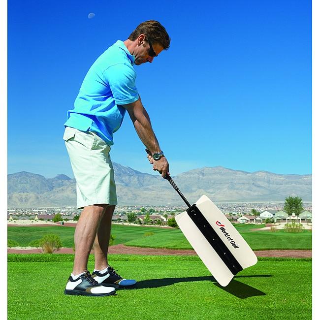 Black/White Plastic Self-correcting Four-fin Fan Golf Swing Trainer