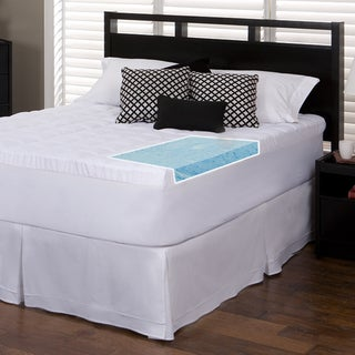 Slumber Solutions Gel 3-inch Memory Foam and 1.5-inch Fiber Mattress Topper