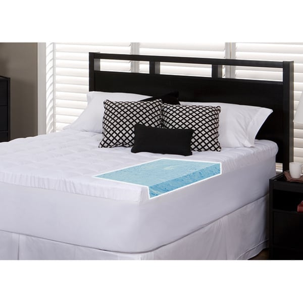 Slumber Solutions Gel 2-inch Twin/ Full-size Memory Foam and 1.5-inch Fiber Mattress Topper