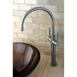 Satin Nickel Bathroom Vessel Sink Faucet
