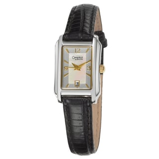 Caravelle Women's Strap Silver Dial Leather Watch