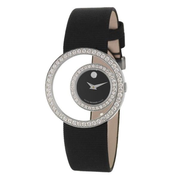 Movado Women's Ono Black Dial Fabric Watch