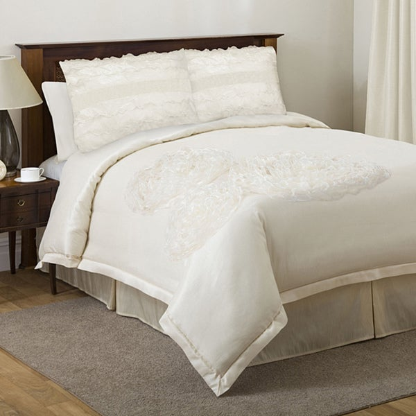 Lush Decor 'La Sposa' Ivory 4-piece Queen-size Comforter Set