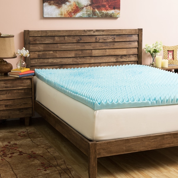 Slumber Solutions Gel Highloft 4-inch Memory Foam Mattress Topper with Cover In Full (As Is Item)
